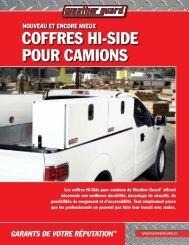 coffres Hi-siDe Pour camioNs - Weather Guard