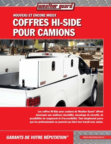 coffres Hi-siDe Pour camioNs - Weather Guard