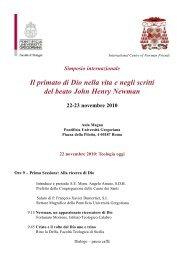 programma - Confederazione dell'Oratorio di San Filippo Neri