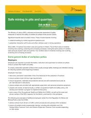 Safe mining in pits and quarries - Ontario.ca