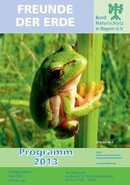 Jahresprogramm 2013 - BUND Naturschutz Kreisgruppe Neu-Ulm