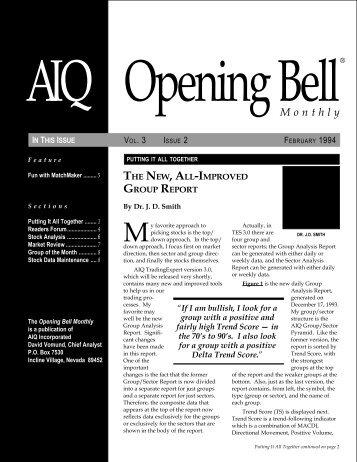 February 1994 - AIQ Systems