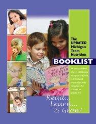 Michigan Team Nutrition Booklist - State of Michigan