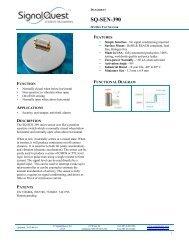 SQ-SEN-390 Datasheet - Glyn Store