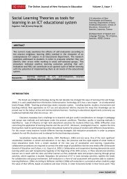 Social Learning Theories as tools for learning in an ICT educational ...