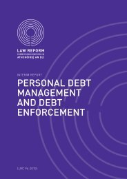 Interim Report on Personal Debt Management and Debt Enforcement