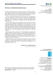 Die Heiz- und Nebenkostenabrechnung - Mieterverband