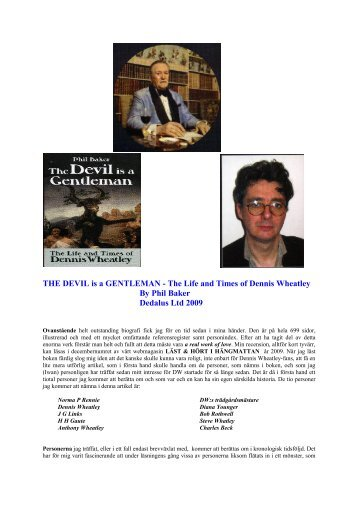 The Devil is a Gentleman. The Life and Times of Dennis Wheatley