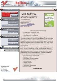 Excel. Najlepsze sztuczki i chwyty - Czytelnia - Helion