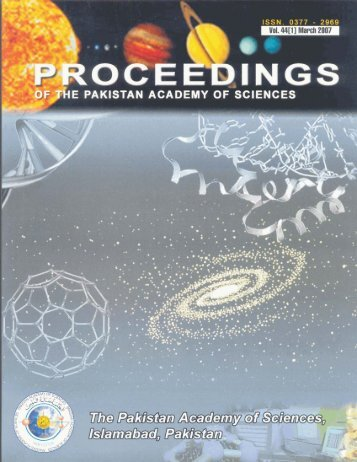 Articles - Pakistan Academy of Sciences