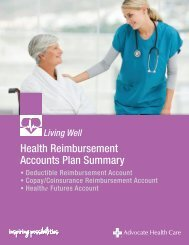 Health Reimbursement Accounts Plan Summary - Advocate Benefits