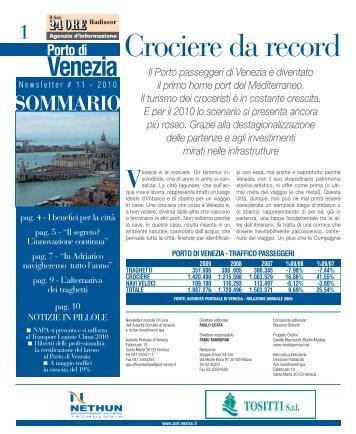 Newsletter # 11 - 2010 - Porto di Venezia