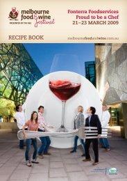 Recipe book food wine - Fonterra Foodservices