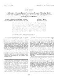Substance-Abusing Parents' Attitudes Toward ... - Fincham.info