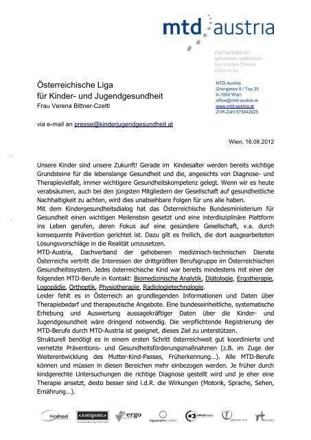 Vortrag: Gabriele Jaksch - Österreichische LIGA für Kinder-und ...