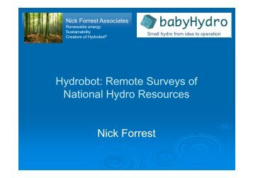 Hydrobot remote surveys of national hydro resources - Hidroenergia ...