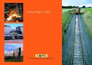 Annual Report 2000 / 2001 - Australian Rail Track Corporation