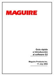 Quick Guide and Introduction to G2 Spanish - Maguire Products
