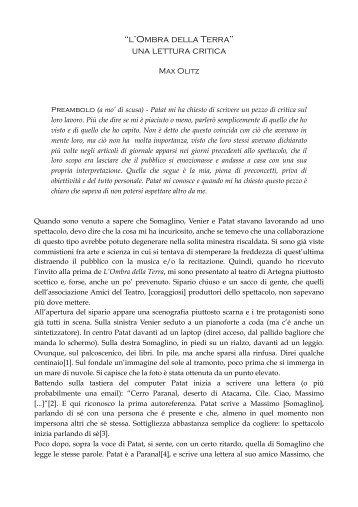 """""""l'Ombra della Terra"""" una lettura critica - ESO"""