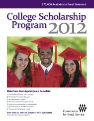 College Scholarship Program2012 - FTC