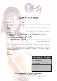 Formulaire d'adhésion - Proj'aide