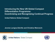 Introducing the New UN Global Compact Differentiation Programme ...