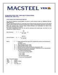 STAINLESS STEEL PIPE, TUBE AND FITTINGS PIPING ... - Macsteel