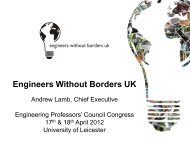 Engineers Without Borders UK - Engineering Professors' Council