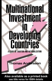 Multinational Investment in Developing Countries: A Study ... - AL-Tax