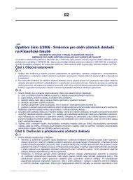 Opatření číslo 2/2008 - Směrnice pro oběh ... - Filozofická fakulta
