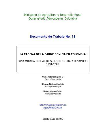 La Cadena de la Carne Bovina en Colombia