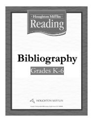 Houghton Mifflin Reading - Elementary