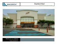 Deptford Mall Technical Criteria - Macerich
