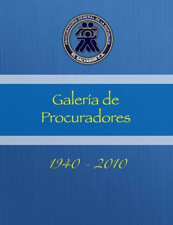 Procuradores.pdf - Procuraduría General de la República de El ...