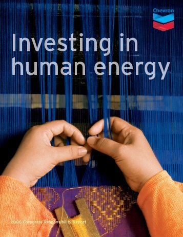 Chevron 2006 Corporate Responsibility Report