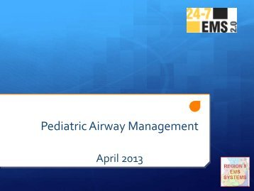 Pediatric Airway Management - Loyola EMS
