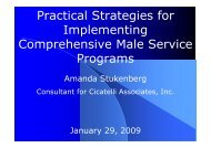 Practical Strategies for Implementing Comprehensive Male Service ...