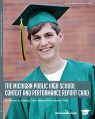 The Michigan Public high School conTexT and ... - Mackinac Center
