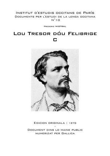 Lou Tresor dóu Felibrige C - IEO París - Free