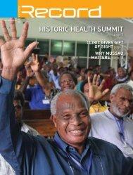 Historic HealtH summit - RECORD.net.au