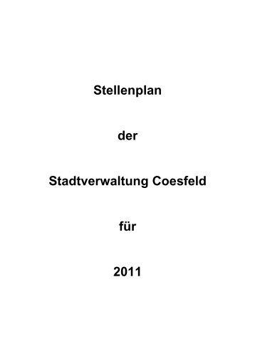 Stellenplan der Stadtverwaltung Coesfeld für 2011