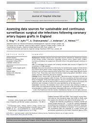 Assessing data sources for sustainable and continuous surveillance ...
