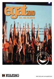 Einladungsflyer zum egat2010 - Kolpingwerk Deutschland