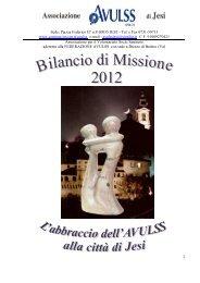 Bilancio di missione 2012 - Comune di Jesi