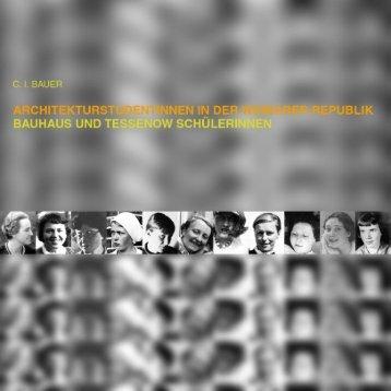 Bauhaus- und Tessenow-Schülerinnen - KOBRA - Universität Kassel