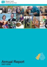 Western Health and Social Care Trust Annual Report 2007•2008 Page