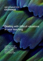 Dealing with difficult situations in your teaching - University of ...