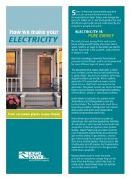 How We Make Your Electricity - Idaho Power