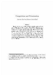 Competition and Privatization - Universidad de Alicante