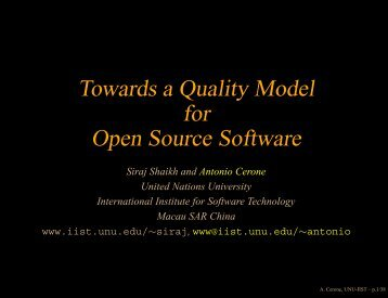 Presentation Slides (PDF) - OpenCert - United Nations University